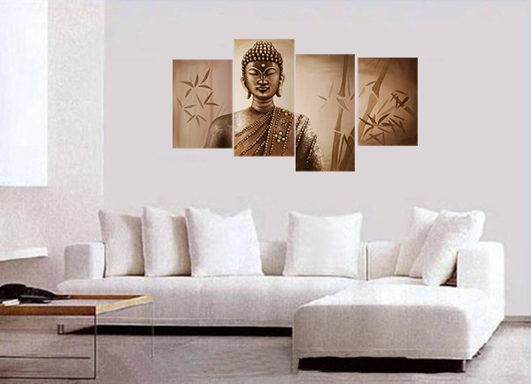 Buddha Painting Feng Shui Buddha Meditation Painting Modern Wall Art Décor