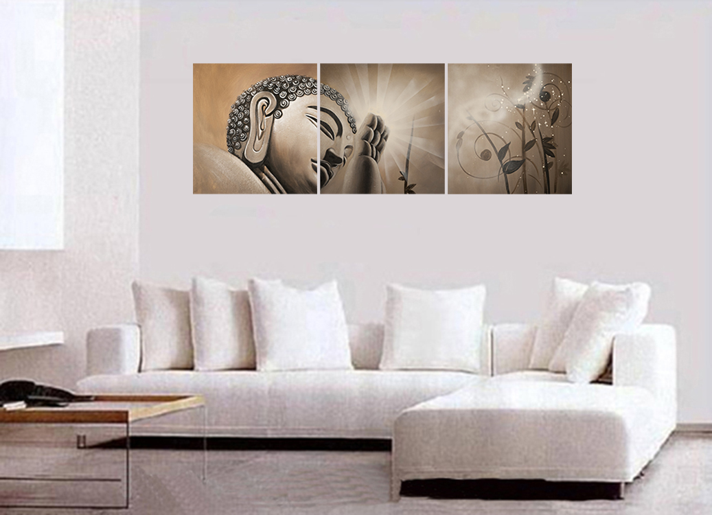 Buddha Painting Buddha Feng Shui Painting Abstract Art Wall Decor