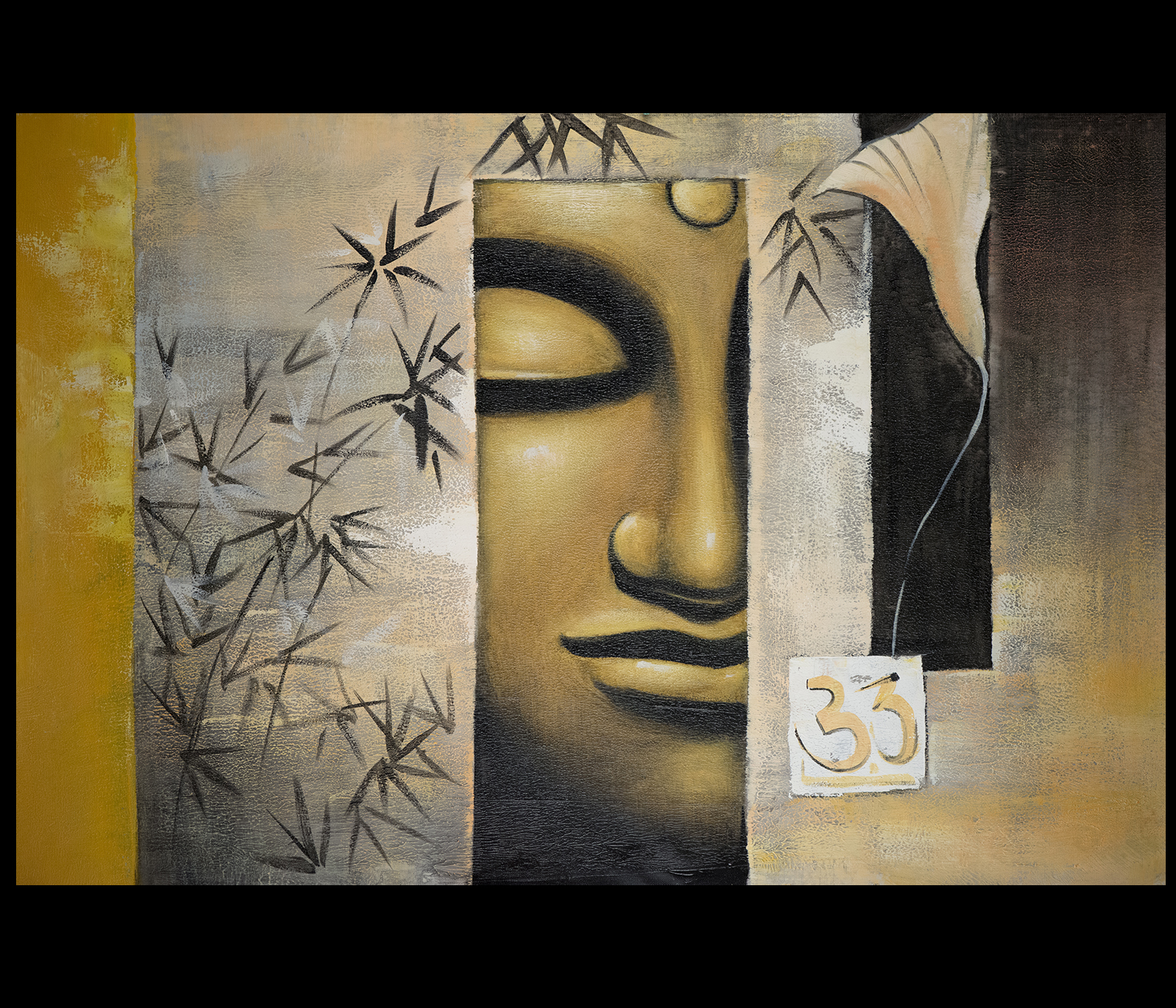 Canvas Wall Art Modern Contemporary Abstract Art Framed Feng
