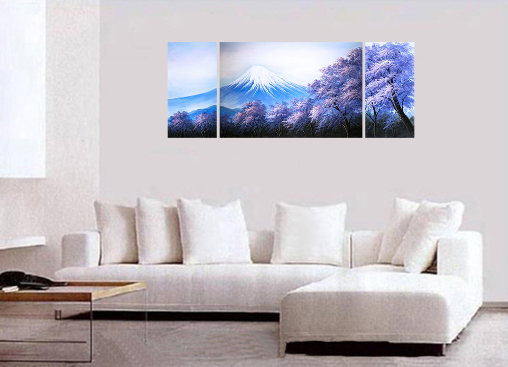 Japanese Cherry Blossom HUGE Abstract Art Canvas Wall Art Decor