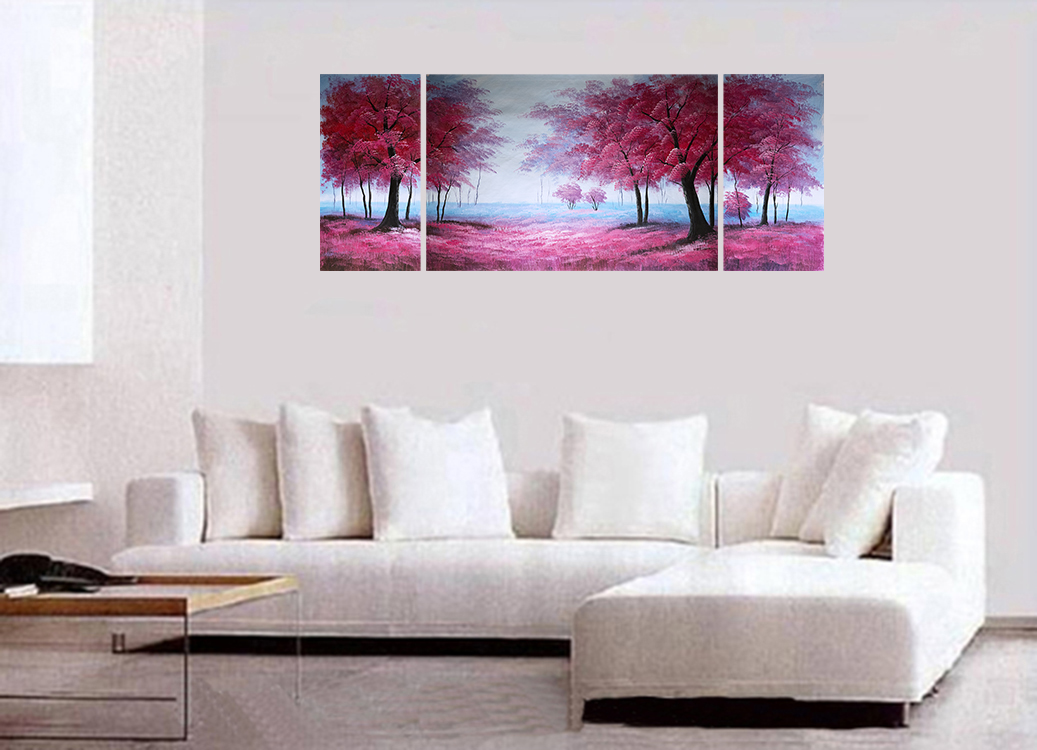 Abstract Painting Wall Art Paintings Stretched Canvas Japanese Cherry Blossom