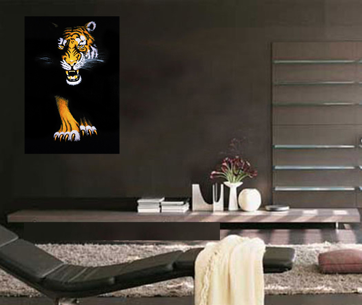 Canvas Art Prints Modern Wall Art Canvas Prints Tiger Painting Framed