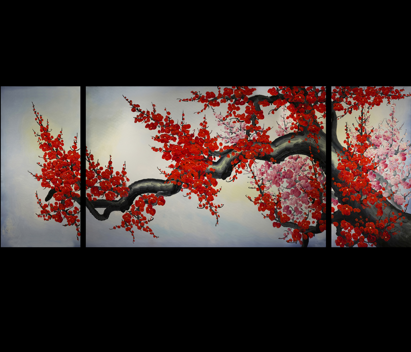 Modern wall art d cor japanese cherry blossom painting for Wall art painting