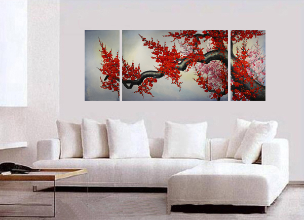 Wall Art And Decor Cool Wall Art Décor Japanese Cherry Blossom Painting Design Ideas
